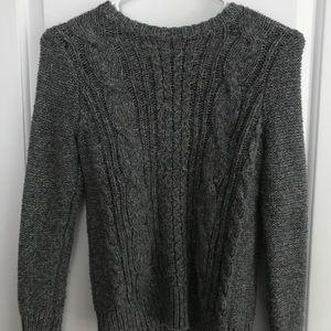 Girls Gray Abercrombie Kids Sweater